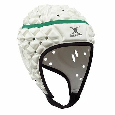 Gilbert Xact Rugby Headgear - WHITE + FREE AUS DELIVERY