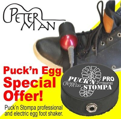 Puck'n Egg Special Price, Pro Bass Puck and electric foot shaker by Peterman