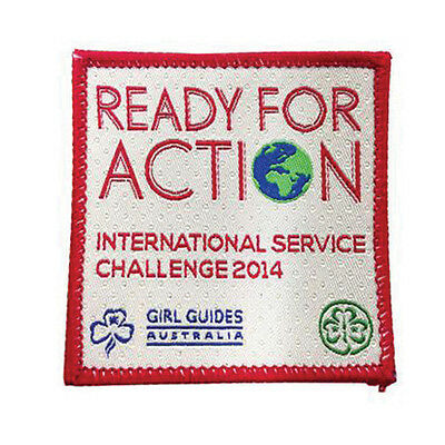 """Girl Guide Scout Brownie BADGE PATCH – new! ~ Australia Ready for Action 2.5"""""""