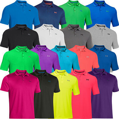 """new 2017"" Under Armour Mens Golf Performance 2.0 Logo Chest Golf Polo Shirt"