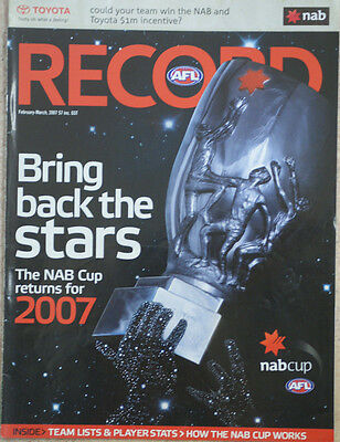 AFL 2007 NAB CUP GRAND FINAL RECORD GEELONG V PORT ADELAIDE
