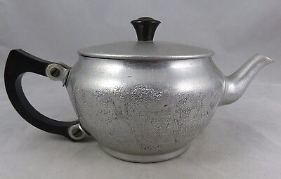 Vtg Sona Ware - The Aluminum Works - Blue Willow - Single Serve Teapot - England