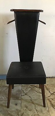 Black Vintage Butler's Chair With Liftable Seat