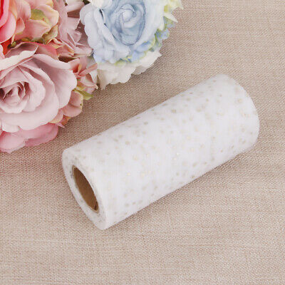"6"" x 25 Yards Glitter Soft Tulle Rolls Gift Wrap Bow Wedding Party Decoration"