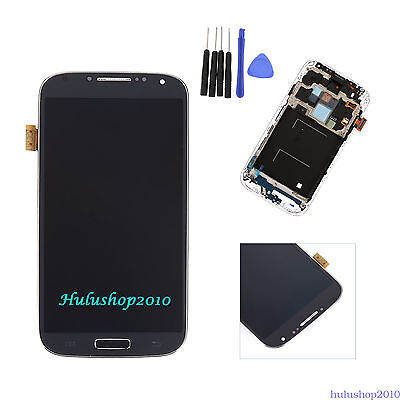 Blue For Samsung Galaxy S4 i337 M919 LCD Digitizer Touch Replacement +Frame +T