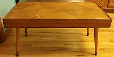 Mid Century Modern Coffee Table Dixie MCM Dixie nomfa brand wood inlay cool