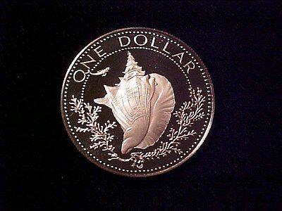 Bahamas Conch $1 Dollar Silver Proof 1975 Gem Cameo Nice