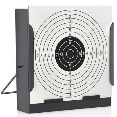 Shooting Target Holder 14cm with 100 Air Rifle Paper Targets Pistol Pellet Trap