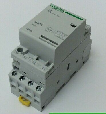 Schneider Contactor 25 Amp 4 Pole 230V 4 Normally Closed 15963
