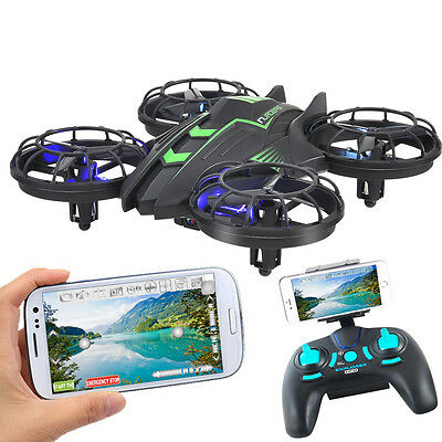 Mini WIFI FPV 0.3MP HD Camera RC Quadcopter Drone 2.4GHz 4CH High Hold Mode LED