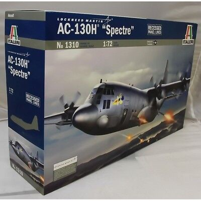 Italeri 1:72 1310 Ac-130H Spectre Model Aircraft Kit