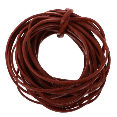 5 Meter x 3mm Flat Leather Cord For Beading Jewelry Making DIY Belt Craft String