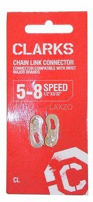 "Clarks MTB and Road  5-8 Speed Bicycle Chain Link Connector 1/2"" x 3/32 Inches"