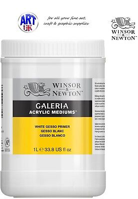 Winsor & Newton Galeria Acrylic Colour WHITE GESSO 1ltr surface prep medium