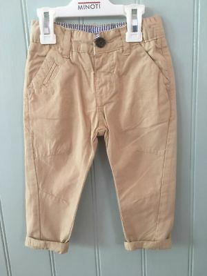 Baby boys soft chino trousers stone brown 6-12-18-24 months 1-2-3 years outfit