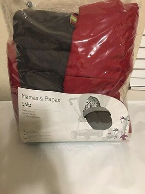 Mamas & Papas Sola Stroller Footmuff/Liner Red/polo/rouge