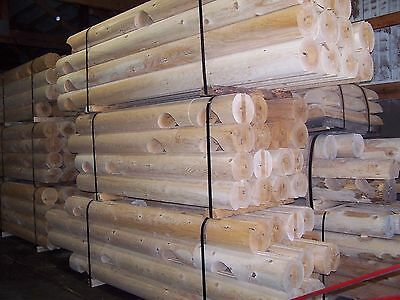 "Log Cabin Wall Package 10"" Round Pine Double Tongue And Groove 24X32"