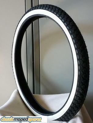 19 inch - Puch Honda Moped Whitewall White Wall Tyre Tire 2-19 inch (23-2.00)