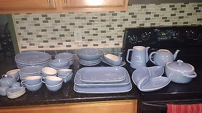 Winfield China BLUE PACIFIC RARE LOT 56PC Vintage Mid century BAMBOO SET