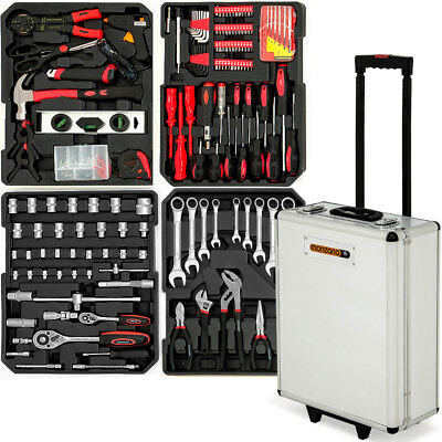 Tool Kit Set Case Trolley Box Hand Workshop Garage Household Aluminium Toolbox