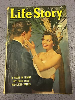 Unique Vintage Girls Life Story Comic Jun #15 1950 Teenage Retro