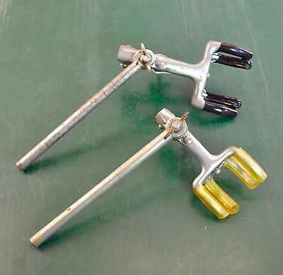 2 - 4 Finger Prong Extension Adjustable Swivel Clamp with Rod - Lab Laboratory