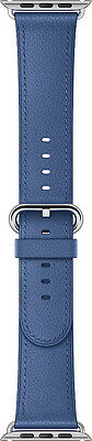 Genuine Apple 38mm Classic Buckle - MNKU2AM/A - Sea Blue Leather Watch Band