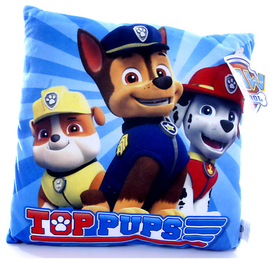 New Official Childrens Blue Top Pups Paw Patrol Cushion Pillow
