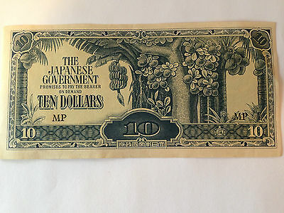 Japanese Goverment 10 Dallar Note