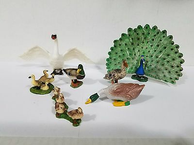 Schleich lot of 7 Swan peacock duck