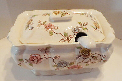 Vintage Tilso Floral Soup Tureen with Lid and Ladle 53/211