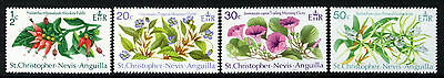 ST.KITTS-NEVIS-ANGUILLA QE II 1971 Flowers Set SG 237 to SG 240 MINT