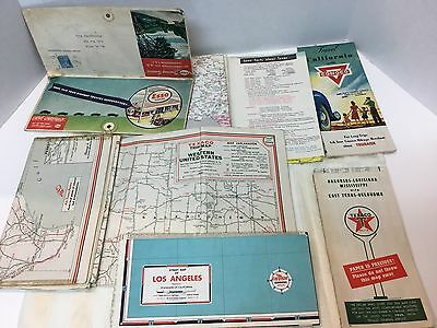 Advertising Maps Texaco, Esso, Conoco, Chevron