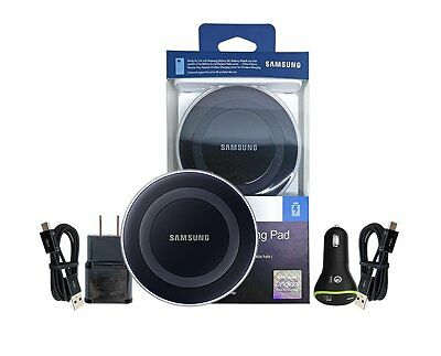 OEM Samsung Qi Wireless Charging Pad + Fast Car Charger for S7/S6/Edge+/Note 5