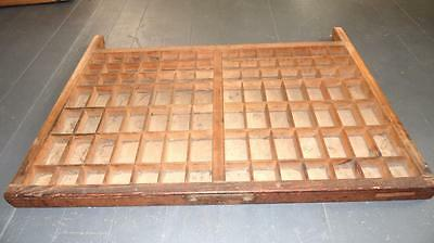 Vintage Wooden Typeset Shadow Box Drawer Printing Block Letter Press Tray 26.5""