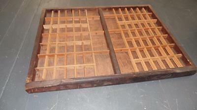"Vintage Wooden Typeset Shadow Box Drawer Printing LetterPress Tray 21.75"" #2"