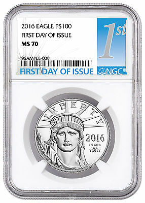 2016 $100 1 oz. American Platinum Eagle NGC MS70 First Day of Issue SKU41976