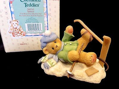 "Cherished Teddies SPENCER ""I'm Head Over Skis For You"" MINT 269743"