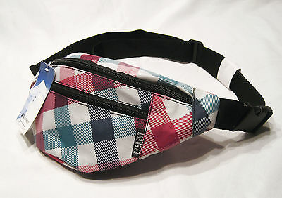 Everest Fanny Pack / Waist Pack *NEW*  Plaid Pattern in Red, Blue, and Green