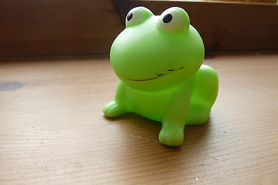 Miniature Lime Green Rubber Frog Squeeky Toy