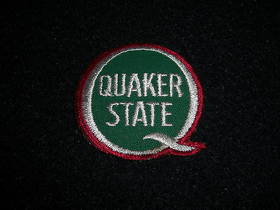 Quaker State Oil Patch Patch 1980's Vintage Original