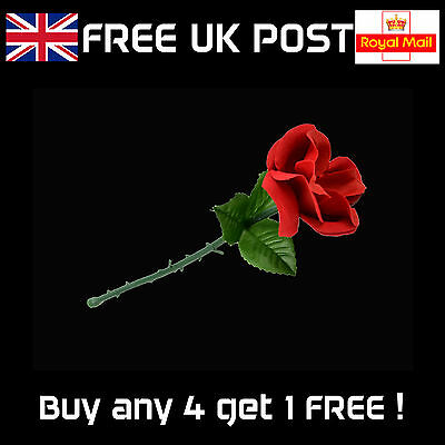 Appearing Rose - Folding Flower, Stage or Close-up Magic Trick - NEW