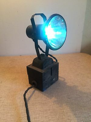 Vintage Antique Conti-Glo Lamp Model 91 Continental Lithograph Flood Light