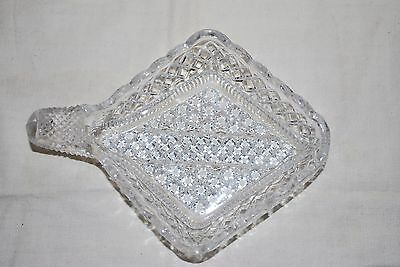 Antique Pressed Glass Nappy 1930's Beautiful Serving Dish