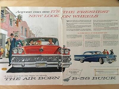 Original Vintage Ad The Air Born B-58 Buick Century Mention Of The Opel