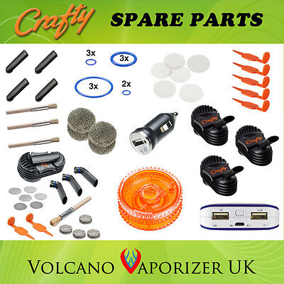 Crafty Vaporizer Parts - Caddy, Magazine, Cooling, Screen, Wear Tear, Seal Ring