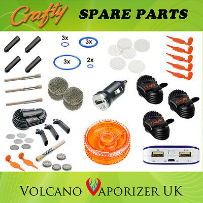 Crafty Vaporizer Parts - Caddy, Magazine, Cooling, Screens, Wear Tear, Seal Ring