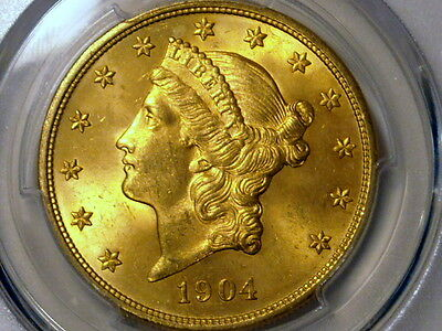 1904 $20 Liberty Gold Double Eagle PCGS MS64