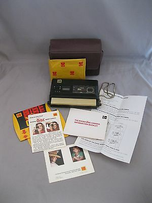 Vintage Kodak Disc 8000 Camera~Disc Format~Soft Case~Extra Disc~Manual
