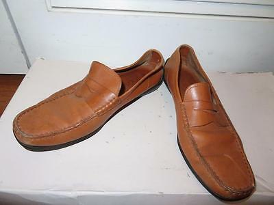 Mens Tod's Lt Brown Leather Loafer Shoes Size 9